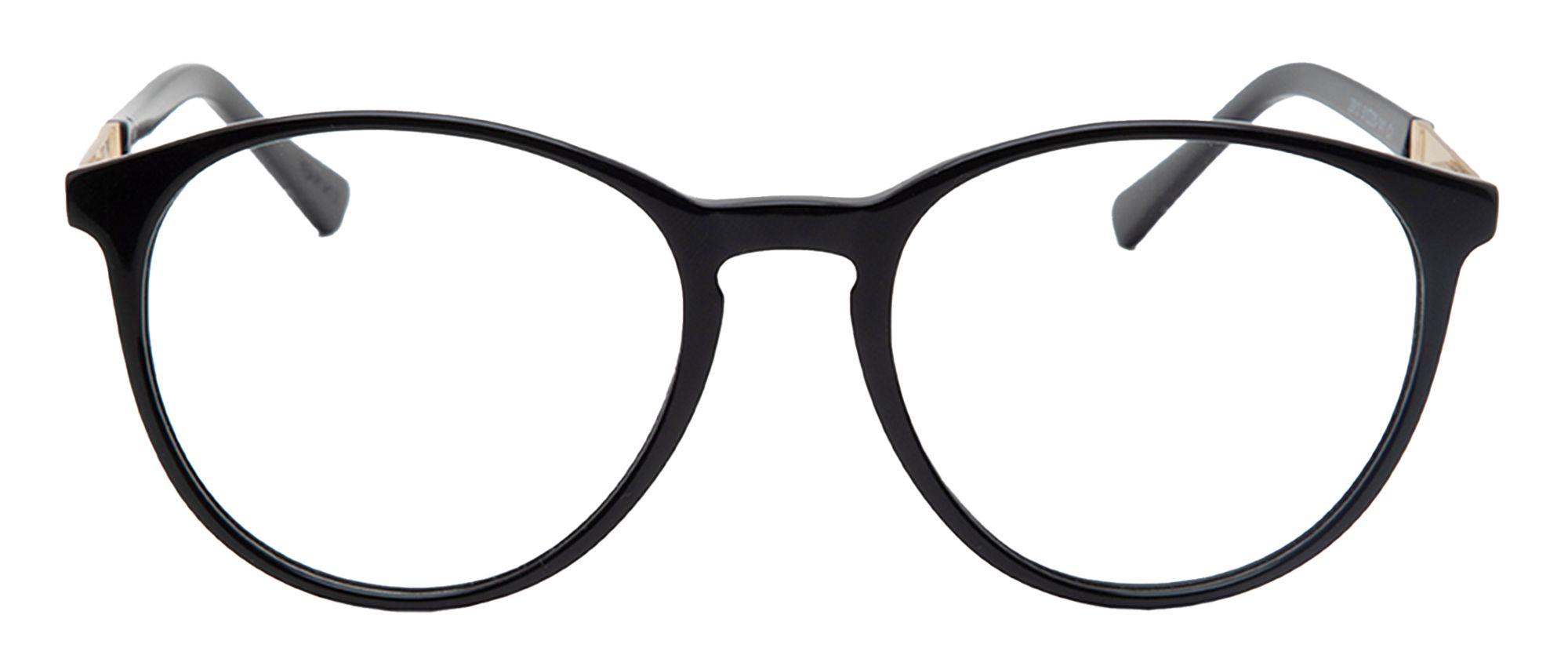 Black Wayfarer Style Acetate Frame - Progressive 4K